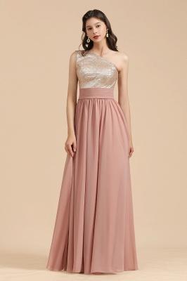 BM2010 One Shoulder Sequins A-line Pink Bridesmaid Dress_1