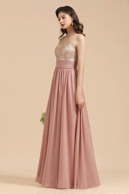 BM2010 One Shoulder Sequins A-line Pink Bridesmaid Dress_8