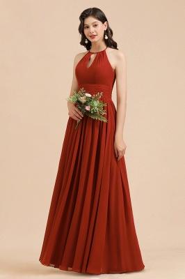 BM2004 Halter A-line Chiffon Bridesmaid Dress_1