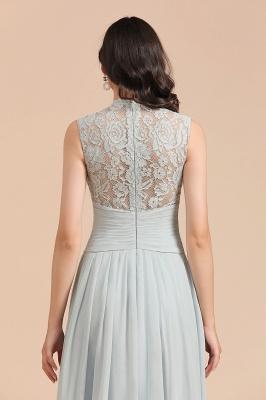 BM2001 High Neck Lace Sleeveless A-line Bridesmaid Dress_9