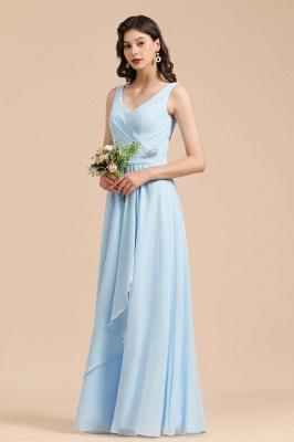 BM2002 Sky Blue Ruffles Straps Beads Bridesmaid Dress_6