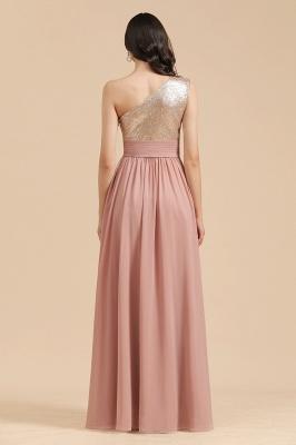 BM2010 One Shoulder Sequins A-line Pink Bridesmaid Dress_3