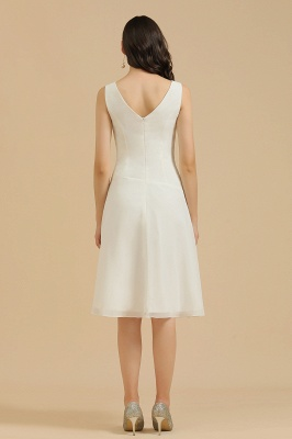 BM2005 Simple A-line Straps Ruffles Short Bridesmaid Dress_3