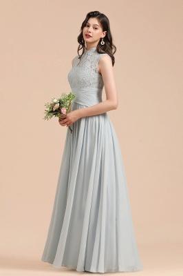 BM2001 High Neck Lace Sleeveless A-line Bridesmaid Dress_7