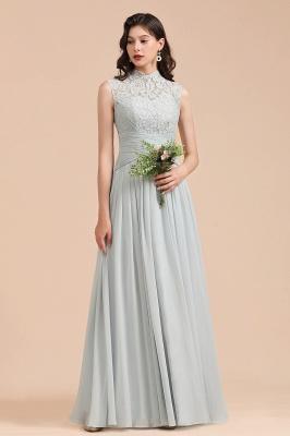 BM2001 High Neck Lace Sleeveless A-line Bridesmaid Dress_2