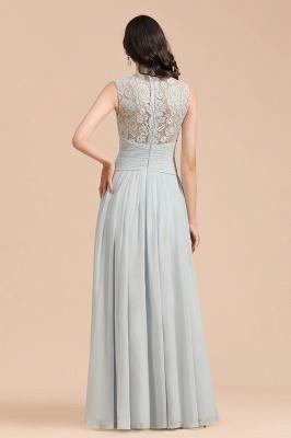 BM2001 High Neck Lace Sleeveless A-line Bridesmaid Dress_3