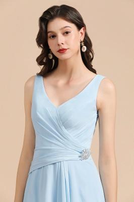 BM2002 Sky Blue Ruffles Straps Beads Bridesmaid Dress_8