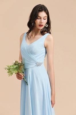 BM2002 Sky Blue Ruffles Straps Beads Bridesmaid Dress_7