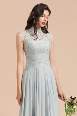 BM2001 High Neck Lace Sleeveless A-line Bridesmaid Dress_8