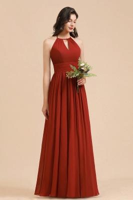 BM2004 Halter A-line Chiffon Bridesmaid Dress_6
