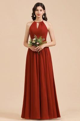 BM2004 Halter A-line Chiffon Bridesmaid Dress_5