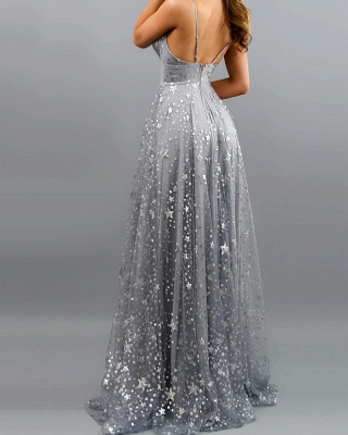 ZY637 Silver Evening Dresses Long Glitter Prom Dresses Cheap_4