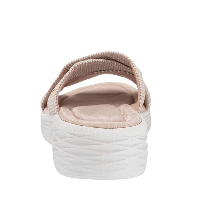 Women Comfort Weave Stretch Cross Sandals Summer Non-Slip Wedge Platform Beach Sandals_6
