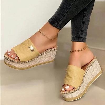 SD2132 Platform Wedges Slippers Slides Women Sandals_8