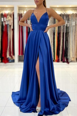ZY623 King Blue Evening Dresses Long Prom Dresses Cheap_1