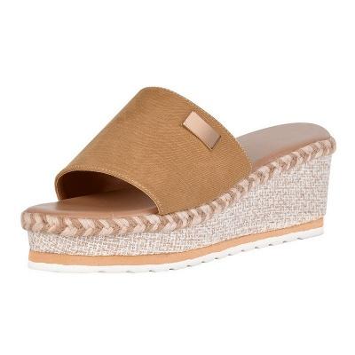 SD2132 Platform Wedges Slippers Slides Women Sandals_2