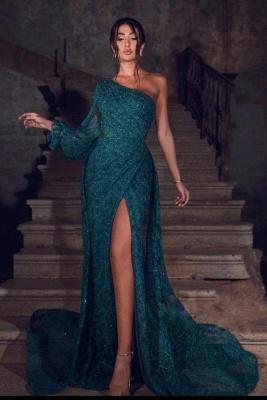 ZY655 Prom Dresses Dark Green Evening Dresses Long Lace_1