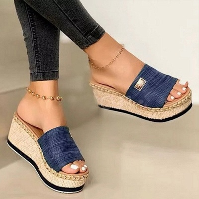 SD2132 Platform Wedges Slippers Slides Women Sandals_7