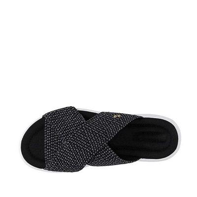 Women Comfort Weave Stretch Cross Sandals Summer Non-Slip Wedge Platform Beach Sandals_3