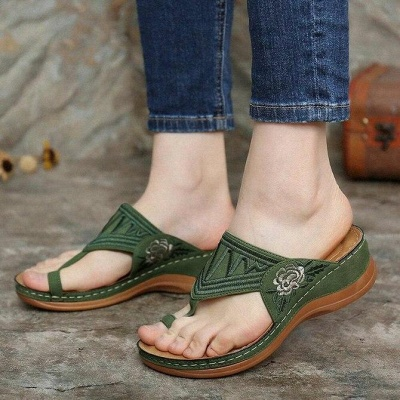 SD2133 Embroidery Orthopedic Comfy Flip Flop Sandals_5