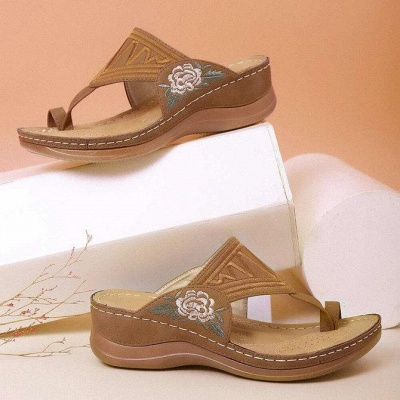 SD2133 Embroidery Orthopedic Comfy Flip Flop Sandals_2