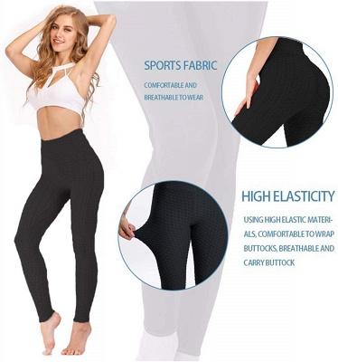 Women's High Waist Yoga Pants Tummy Control Slimming Booty Leggings_9