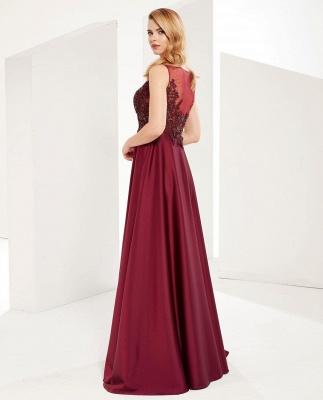 ZY641 Evening Dress Long V Neckline Wine Red Prom Dresses Cheap_3