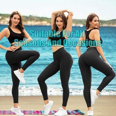 Women's High Waist Yoga Pants Tummy Control Slimming Booty Leggings_12