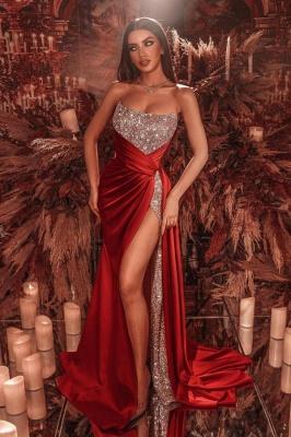 ZY658 Red Long Glitter Prom Dresses Buy Evening Wear Online_1