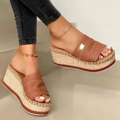 SD2132 Platform Wedges Slippers Slides Women Sandals_6