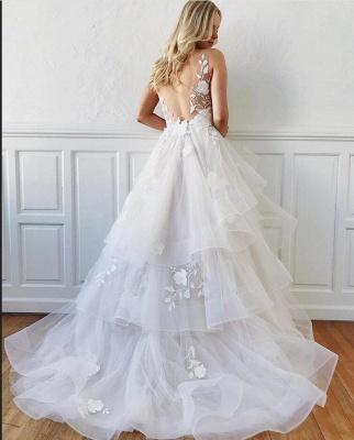 Cheap A Line Lace Wedding Dresses Bridal Gowns_2