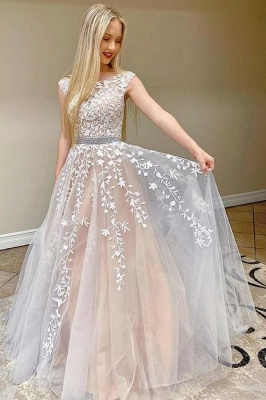 Simple Lace Prom Dresses | Long Evening Gowns