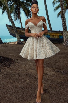 Simple Wedding Dresses Short | Lade Wedding Gowns