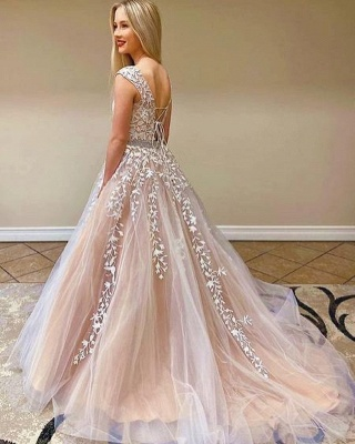 Simple Lace Prom Dresses | Long Evening Gowns_2