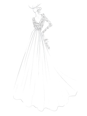 Cheap Wedding Dresses A Line V Neck Long Sleeve Floor Length Chiffon Lace Beach Wedding Dresses_6