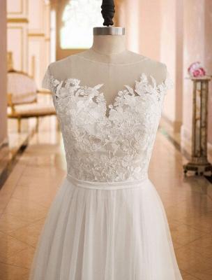 Boho Wedding Dresses 2021 With Lace Chiffon Bridal Gowns_5