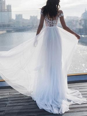 Boho Wedding Dresses 2021 With Lace Chiffon Bridal Gowns_2
