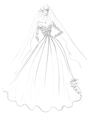 Wedding Dresses Princess Silhouette Jewel Neck Long Sleeves Natural Waist Lace Satin Fabric Bridal Gowns_3