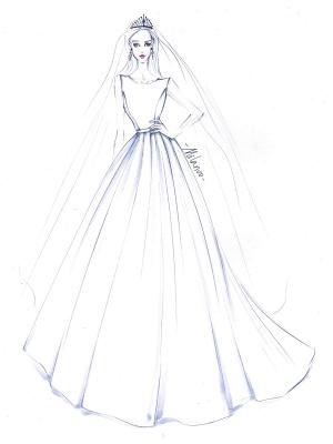 Vintage Wedding Dress 2021 A Line Bateau Neck Sleeveless Floor Length Satin Bridal Gown_6