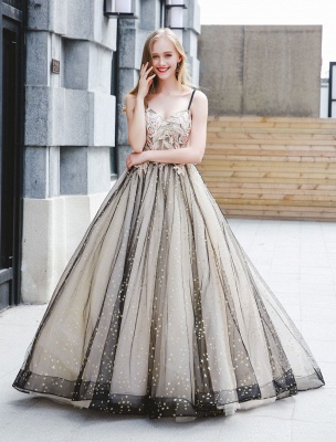 Black Quinceanera Dresses Luxury Tulle Ball Gowns Pearls Beaded Maxi Women Pageant Dress_2