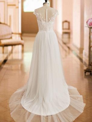 Boho Wedding Dresses 2021 With Lace Chiffon Bridal Gowns_4