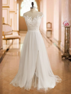 Boho Wedding Dresses 2021 With Lace Chiffon Bridal Gowns_3
