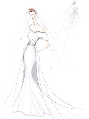 White Vintage Wedding Dresses With Train Satin Off The Shoulder Wedding Dresses Pleated Mermaid Bridal Gowns_4
