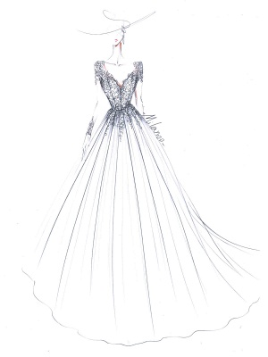 Wedding Dresses 2021 V Nevk A Line Long Sleeve Floor Length Lace Applique Tulle Bridal Gowns With Train_5