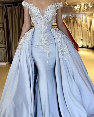 Lavender Sparkly Long Prom Dresses | Cheap Evening Gowns_2
