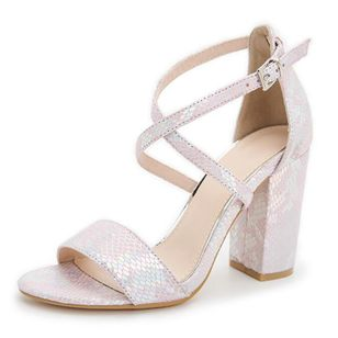 Women's Buckle Heels Chunky Heel Sandals_2