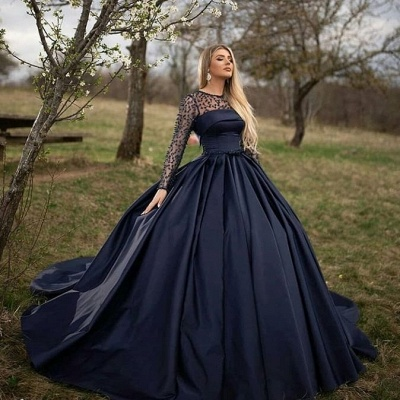 ZY068 Princess Evening Dresses With Sleeves Buy Evening Wear Online_2