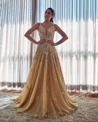 ZY055 Evening Dresses Long Glitter Cheap Prom Dresses With Lace_2