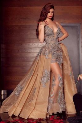 ZY080 Elegant Long Evening Dresses Cheap Prom Dresses V Neckline With Lace_1