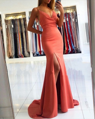 ZY030 Simple Evening Dresses Long Cheap Evening Wear Online_2